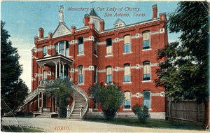 San Antonio Texas Monastery Our Lady Charity Vintage Postcard 1915 - Vintage Postcard Boutique