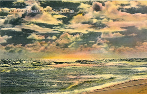 California Pacific Coast Sunrise Vintage Postcard (unused) - Vintage Postcard Boutique