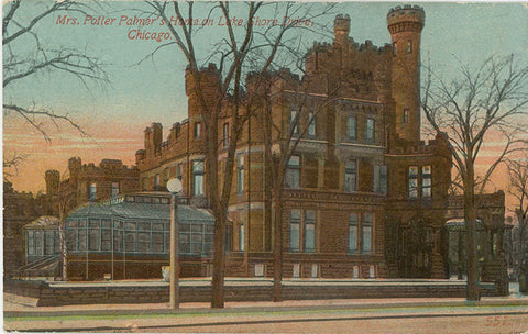 Mrs. Potter Palmer's House Lake Shore Drive Chicago Illinois Vintage Postcard 1913 - Vintage Postcard Boutique