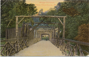 Piasa Chautauqua Illinois Bridge Entrance Vintage Postcard 1917 - Vintage Postcard Boutique