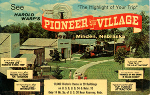 Minden Nebraska Pioneer Village Historic Tourist Attraction Vintage Postcard (unused) - Vintage Postcard Boutique