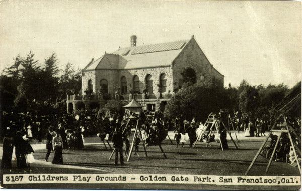Childrens Playgrounds Golden Gate Park San Francisco California Vintage Postcard (unused) - Vintage Postcard Boutique