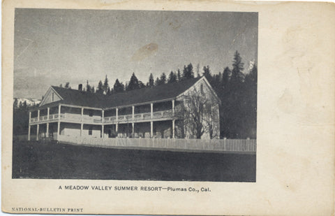 Plumas County California Meadow Valley Resort Vintage Postcard (unused) - Vintage Postcard Boutique