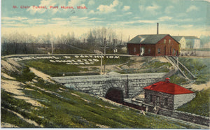 Port Huron Michigan St. Clair Tunnel Railway Vintage Postcard (unused) - Vintage Postcard Boutique
