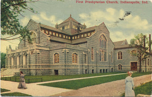 Indianapolis Indiana First Presbyterian Church Vintage Postcard 1914 - Vintage Postcard Boutique