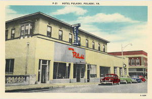 Hotel Pulaski Virginia Near Claytor Lake State Park Vintage Postcard (unused) - Vintage Postcard Boutique