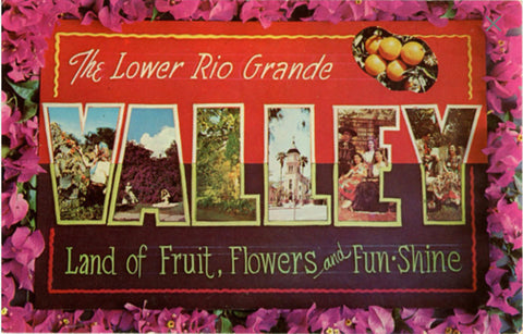 Lower Rio Grande Valley Texas Large Letter Vintage Postcard (unused) - Vintage Postcard Boutique