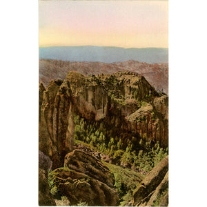 San Benito California Pinnacles National Monument Hand Colored Vintage Postcard (unused)