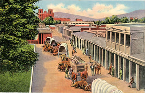 Santa Fe Trail End Before Railroad New Mexico Vintage Postcard 1940s (unused)