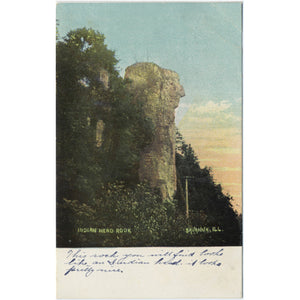 Savanna Illinois Indian Head Rock Vintage Postcard - Vintage Postcard Boutique