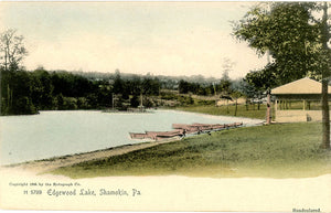 Shamokin Pennsylvania Edgewood Lake Handcolored Vintage Postcard 1906 (unused) - Vintage Postcard Boutique