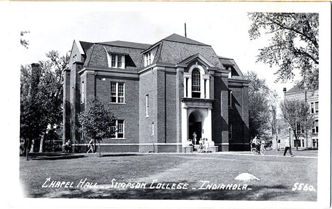 Indianola Iowa Simpson College Chapel Hall RPPC Vintage Postcard (unused) - Vintage Postcard Boutique