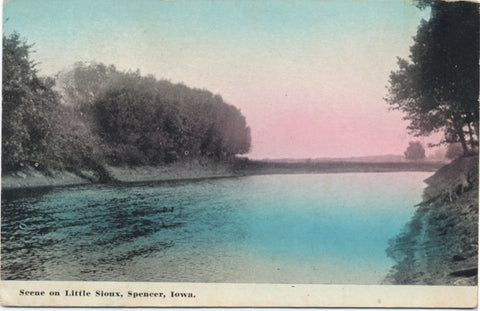 Spencer Iowa Scene on Little Sioux River Vintage Postcard - Vintage Postcard Boutique