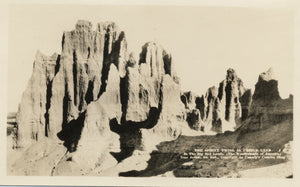Sphinx Twins Castle Land Badlands South Dakota RPPC Vintage Postcard - Vintage Postcard Boutique