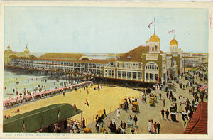 Vintage Atlantic City Postcard - Steel Pier & Boardwalk New Jersey circa 1920s (unused) - Vintage Postcard Boutique