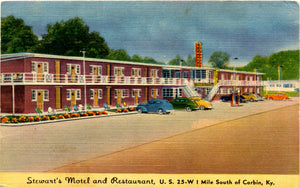 Corbin Kentucky Stewart's Motel Restaurant Vintage Postcard (unused) - Vintage Postcard Boutique