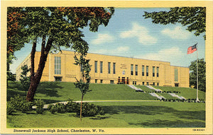 Charleston West Virginia Stonewell Jackson High School Vintage Postcard (unused) - Vintage Postcard Boutique