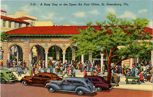 St. Petersburg Florida Open Air Post Office Vintage Postcard (unused) - Vintage Postcard Boutique