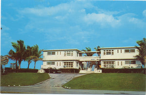 Delray Beach Florida Sunny Surf Apartments Vintage Postcard (unused) - Vintage Postcard Boutique
