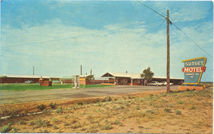 Anson Texas Roadside Sunset Motel Vintage Postcard 1965 - Vintage Postcard Boutique