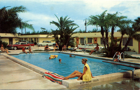Pompano Beach Florida Sunway Motel Vintage Postcard ca. 1960s (unused) - Vintage Postcard Boutique