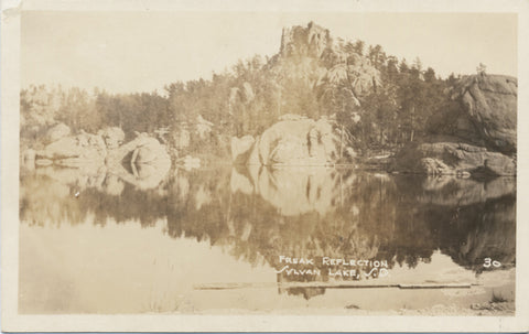 Sylvan Lake South Dakota Freak Reflection RPPC Vintage Postcard - Vintage Postcard Boutique