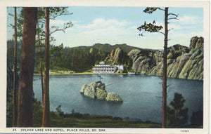 Black Hills South Dakota Sylvan Lake Hotel Vintage Postcard (unused) - Vintage Postcard Boutique