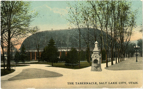 Salt Lake City Utah Mormon Tabernacle Vintage Postcard 1912 - Vintage Postcard Boutique