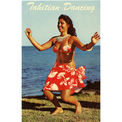 Tahitian Polynesian Dancing Hawaii Vintage Postcard (unused)