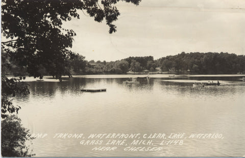 Chelsea Michigan Camp Takona Grass Lake RPPC Vintage Postcard 1954 - Vintage Postcard Boutique