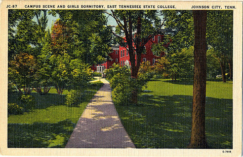 East Tennessee State College Campus & Girls Dormitory Johnson City Vintage Postcard (unused) - Vintage Postcard Boutique