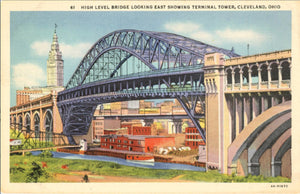 Cleveland Ohio High Level Bridge & Terminal Tower Vintage Postcard (unused) - Vintage Postcard Boutique