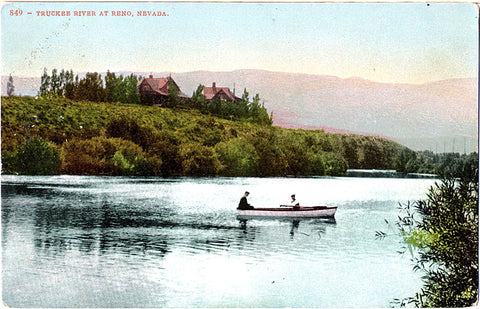 Reno Nevada Truckee River Boating Vintage Postcard (unused) - Vintage Postcard Boutique