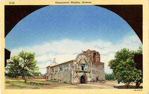 Tumacacori Mission Arizona Franciscan Fathers Vintage Postcard (unused)