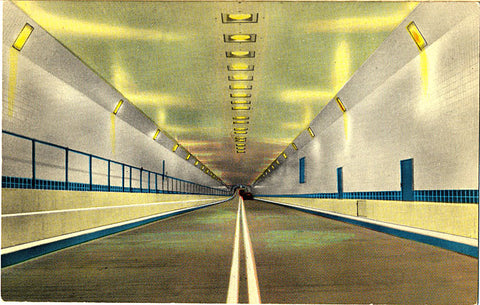 Mobile Alabama Bankhead Tunnel Interior Vintage Postcard - Vintage Postcard Boutique