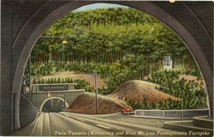 Twin Tunnels Kittatinny & Blue Mt. on Pennsylvania Turnpike - American's Super Highway Vintage Postcard (unused)