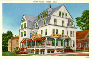 Cape Cod Union Villa Hotel & Restaurant Onset Bay Massachusetts Vintage Postcard (unused) - Vintage Postcard Boutique