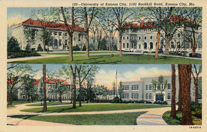 University of Kansas City Missouri Rockhill Road Vintage Postcard (unused) - Vintage Postcard Boutique