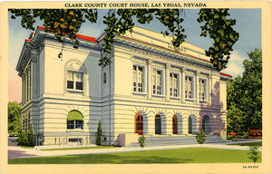 Las Vegas Nevada Clark County Court House Vintage Postcard (unused) - Vintage Postcard Boutique
