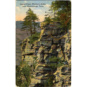 Chattanooga Tennessee Signal Point Walden's Ridge Vintage Postcard (unused) - Vintage Postcard Boutique