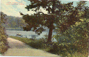 New Canaan Connecticut Lake Wampanaw Vintage Postcard - Vintage Postcard Boutique