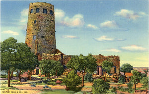 Grand Canyon National Park Arizona Indian Watchtower Vintage Postcard - Vintage Postcard Boutique