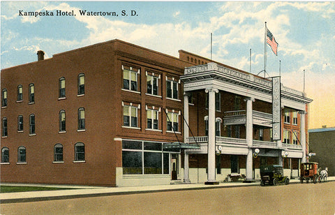 Watertown South Dakota Kampeska Hotel Vintage Postcard (unused) - Vintage Postcard Boutique