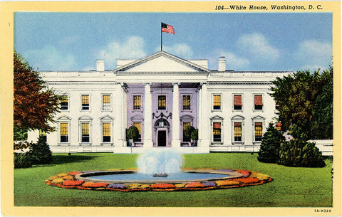White House Washington D.C. Vintage Postcard (unused) - Vintage Postcard Boutique