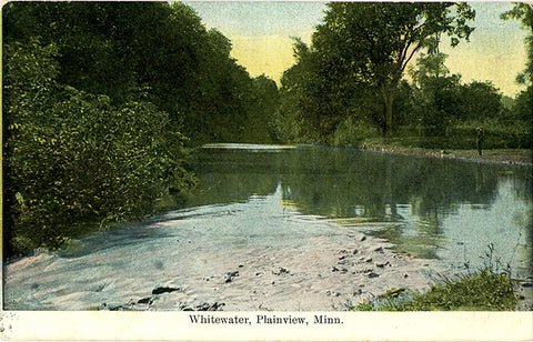 Whitewater Plainview Minnesota Vintage Postcard 1909