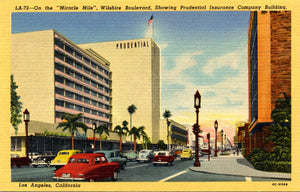 Los Angeles California Wilshire Boulevard Miracle Mile Vintage Postcard (unused) - Vintage Postcard Boutique