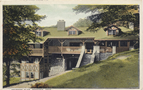 Wooster Ohio Country Club Vintage Postcard 1925 - Vintage Postcard Boutique
