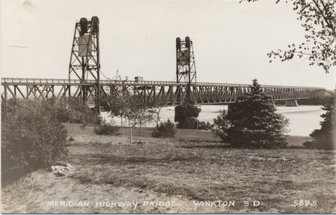Yankton South Dakota Meridian Highway Bridge RPPC Vintage Postcard - Vintage Postcard Boutique