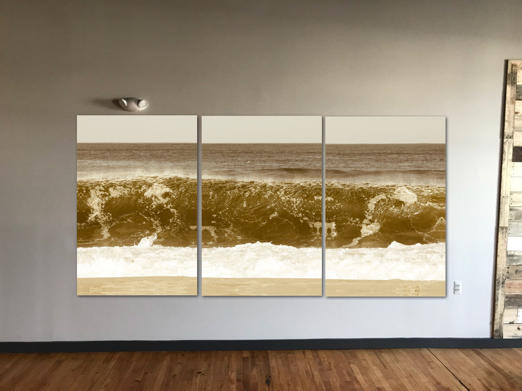 3 panel triptych jersey shore artwork for home or office