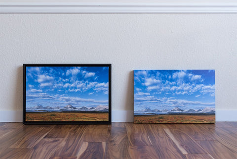 @ styles We offer the left is double framed in Black or Walnut, the right is the standard single frame